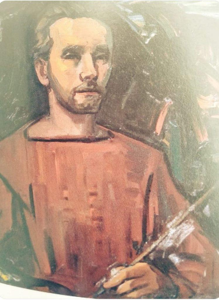 autoretrato del maestro Juan Rimsa,