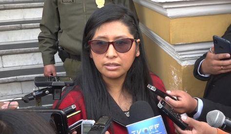 La presidenta de la Cámara de Senadores, Eva Copa. Foto: Prensa Senado